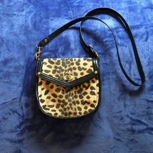 Cheetah Print Nine West Crossbody Bag